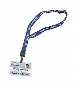 Lanyards breakaway safety printed.